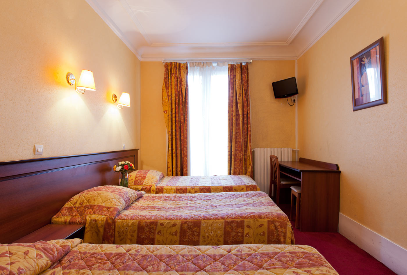 H tel paris centre r servations site officie - Chambre 3 personnes paris ...